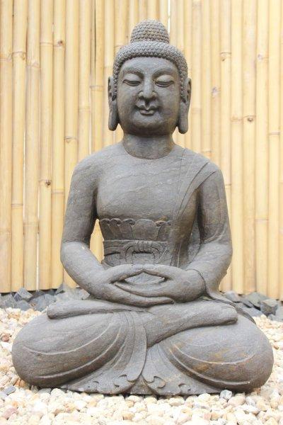 Garten Buddha Amitabha aus Naturstein - China