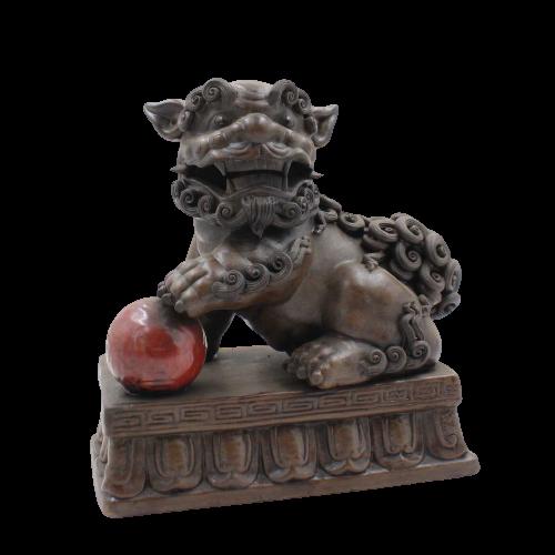 China Wächterlöwe (21cm) aus Porzellan - Keramik