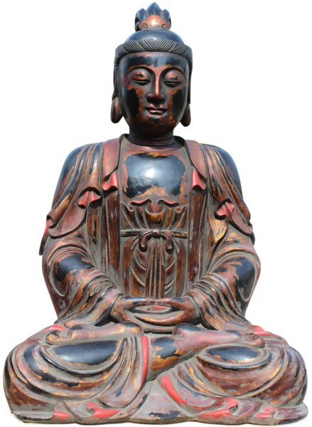 Buddha Figur Amitabha , 1,31m