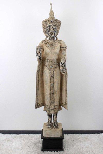 Mandlay Buddha Statue (197cm) Stehende Holz Figur