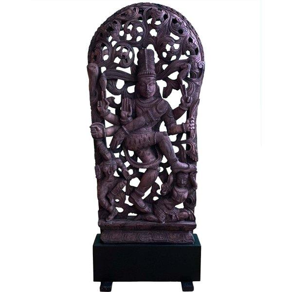 Tanzende Shiva Relief (108cm) Hindu Gottheit Skulptur