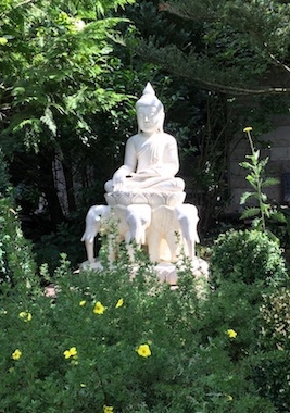 Buddha-Garten-Marmorstein-Stein