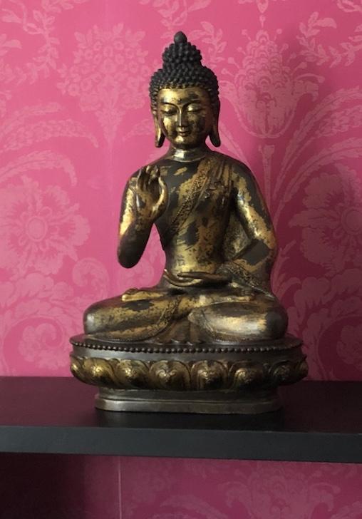 Bronze-Buddha-Figur