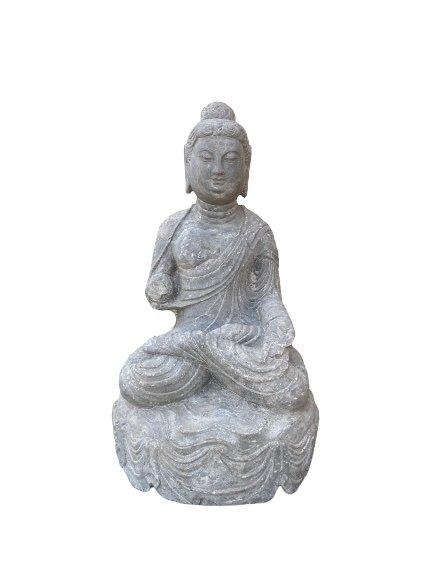 Naturstein Buddha Garten Statue (63cm) China Skulptur