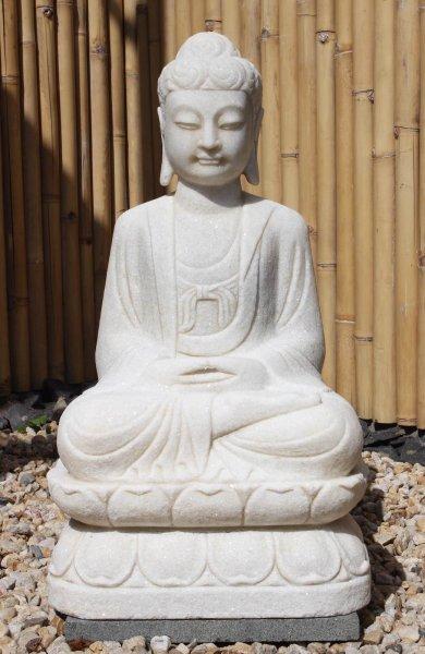 Marmorstein Buddha Statue 81cm Amitabha - Meditationsgeste
