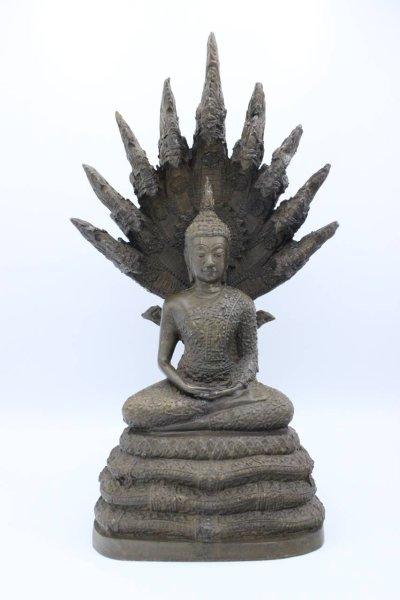 Naga Buddha Figur aus Bronze