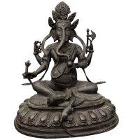 Ganesha Figur Bronze (37,5cm) Elefantengott Himalaya Statue