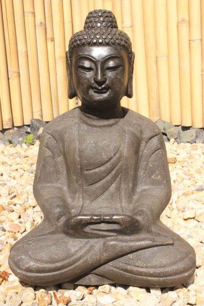 Buddha Amitabha Gartenstatue aus Naturstein