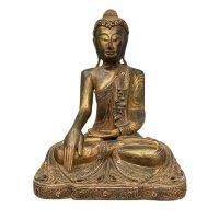 Sitzende Buddha Statue aus Monkey Holz, Thailand