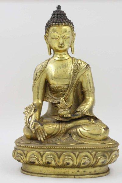 Medizin Buddha Figur (31cm) Chinesische Bronze Statue