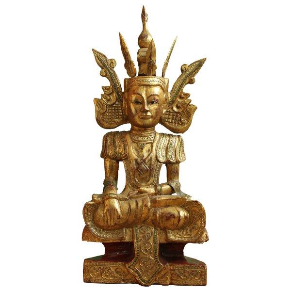 Siddharta Buddha Holz Figur Mandalay (66cm)