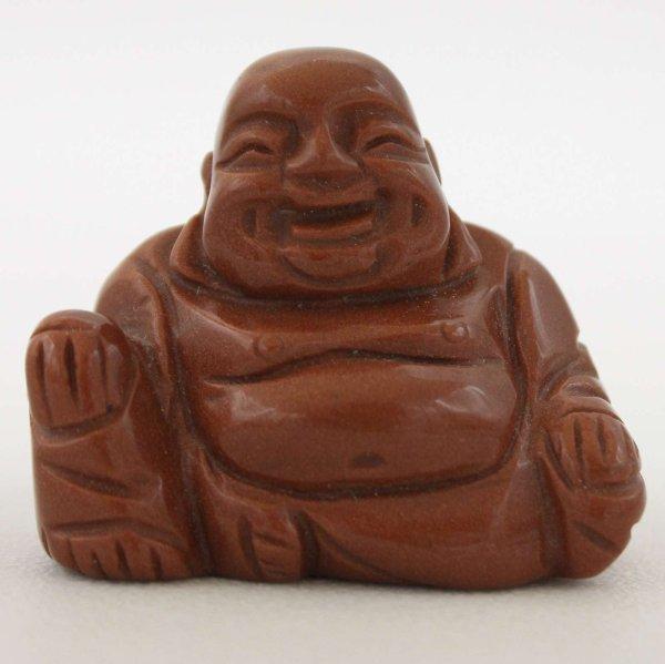 Goldfluss Stein Buddha Figur (5cm) Kleiner Glücksbuddha