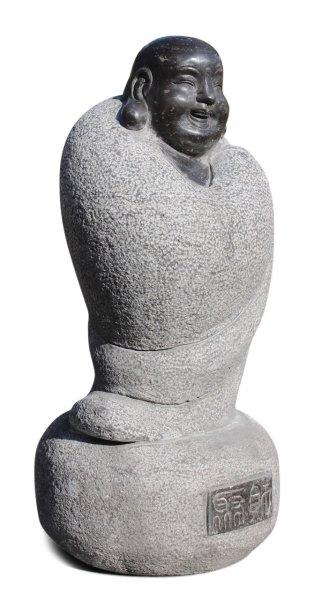 Reichtums - Buddha Figur aus Naturstein