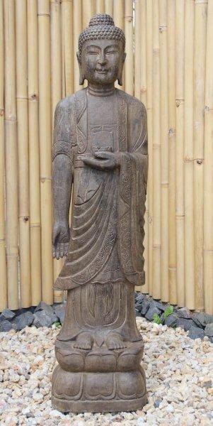 120cm großer Garten Buddha - Naturstein