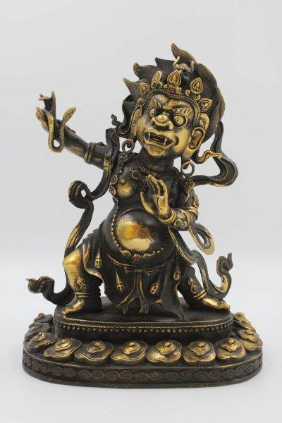 Mahakala Beschützer Gottheit - Buddha Bronze Figur