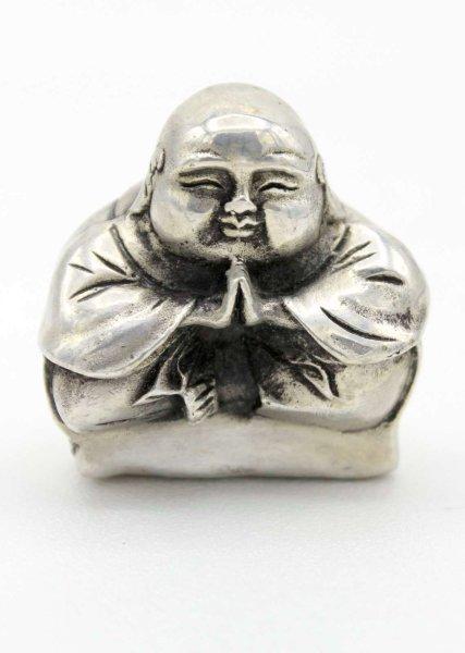Kleine Happy Buddha Figur aus Bronze