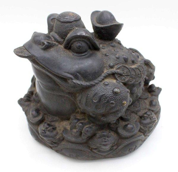 Chinesischer Geldfrosch aus Bronze - Reichtum