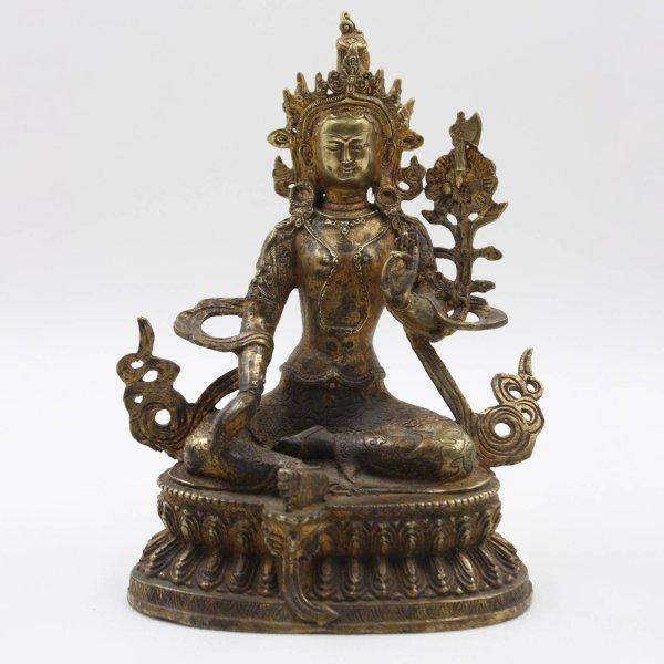 Grüne Tara (21cm) Figur aus Bronze