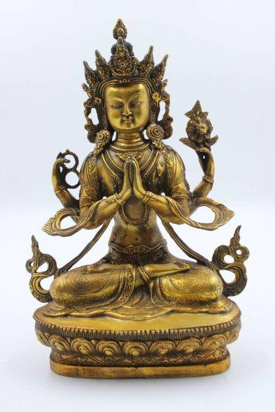 Chenrezig Buddha Figur aus Bronze