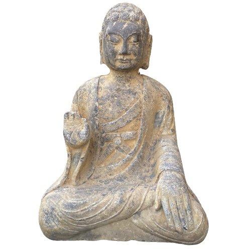 Amoghasiddhi Garten Buddha Statue (53cm) Naturstein