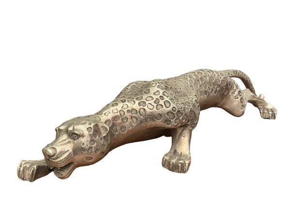 Leopard - Raubkatze (64cm) aus Bronze