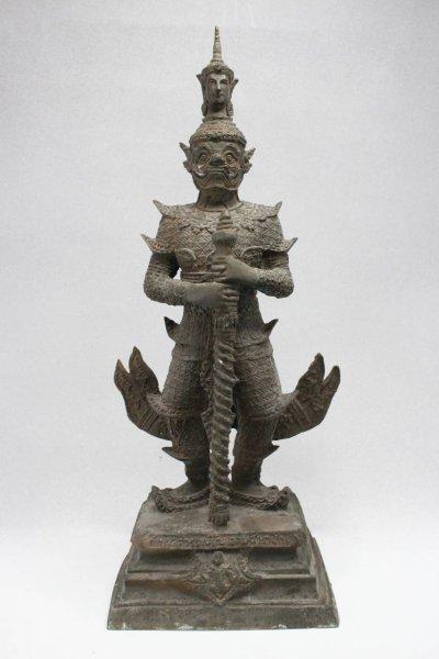 Thailand Tempelwächter Yak - Bronze Figur
