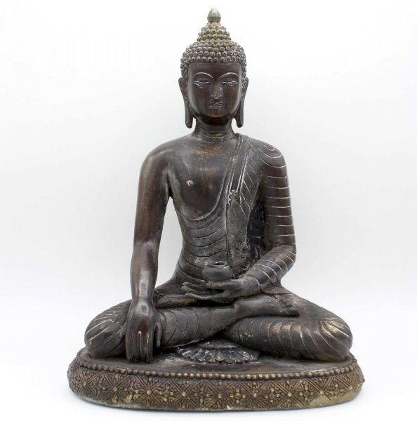 Meditierender Siddharta Buddha (31,5cm) Bronze Figur