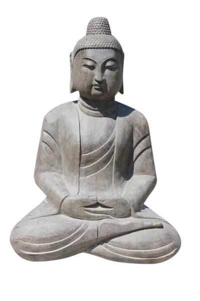 Großer Amitabha Buddha aus Naturstein