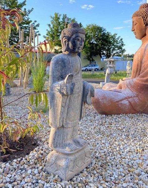 100cm große Garten Buddha Statue auf Lotussockel