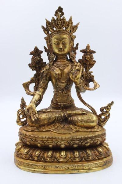 Bronez Figur Weiße Tara Buddha