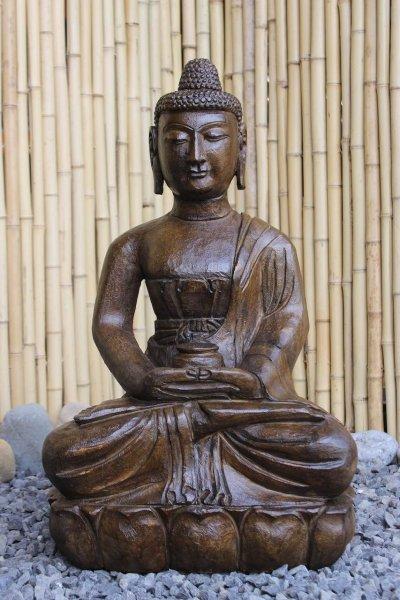 Garten Buddha Brunnen - 61cm groß