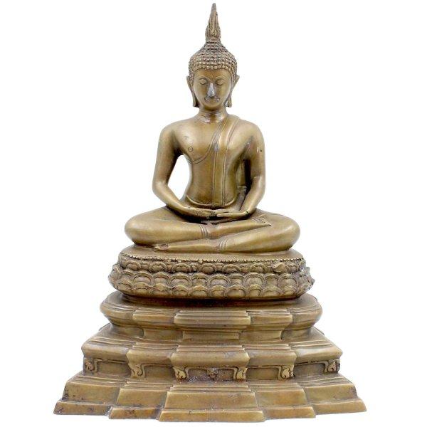 Bronze Amitabha Figur (26,5cm) Ushnisha Statue Tibet