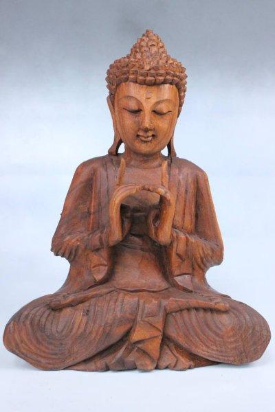 Yoga Buddha Figur - Holz