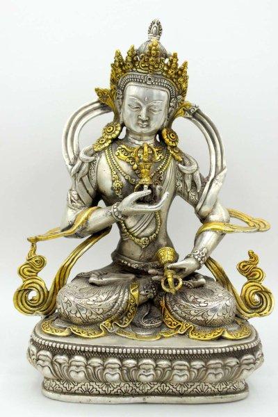 Buddha Figur Vajrasattva 30cm groß Bronze Skulptur