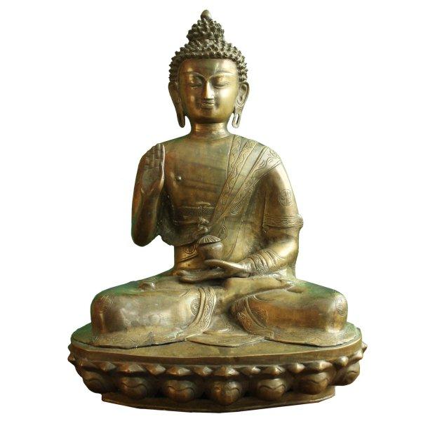 Amoghasiddhi Buddha Statue Bronze (52cm) Thailand