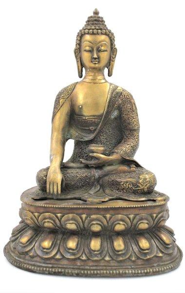 Siddharta Gautama Buddha Figur (34cm) Bronze