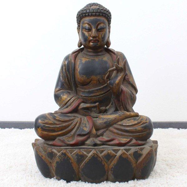 Holz Buddha Statue (67cm) Karana Mudra