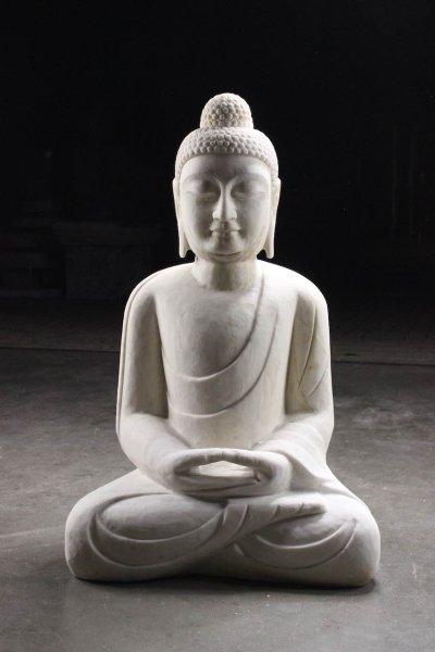 Garten Buddha Statue Marmor Stein - handgefertigt