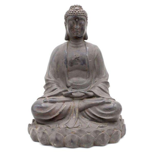Amitabha Bronze Buddha Figur (25cm) Lotusblume