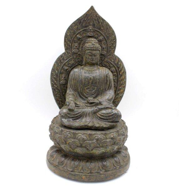 Bronze Buddha Statue (30cm) Ratnasambhava Figur