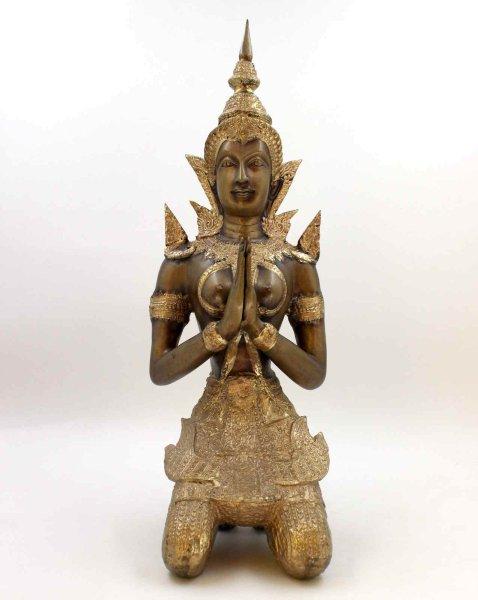 Teppanom Bronze Figur - Tempelwächter Thailand