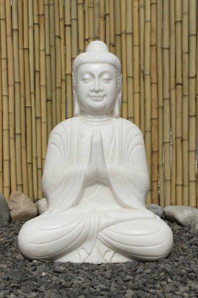 Buddha Statue aus Marmor - Garten Figur