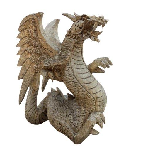 Alte Drachen Figur aus Holz (28cm)