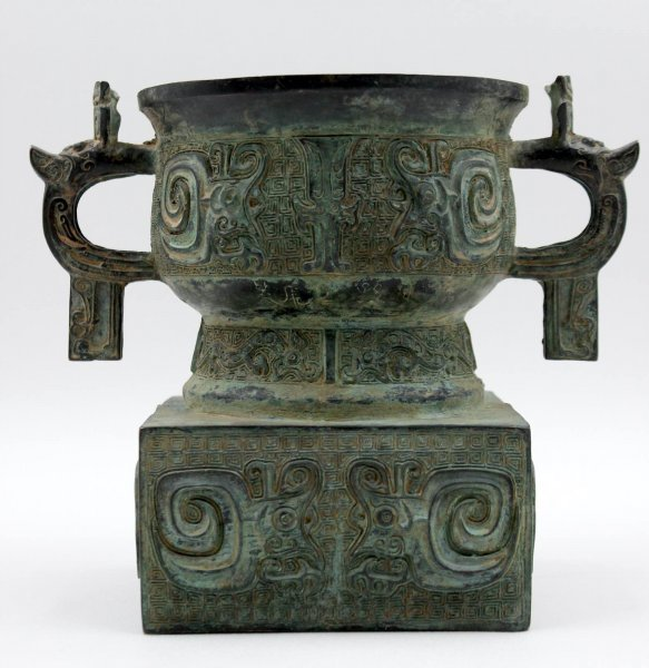 Drachen Räuchergefäß aus China - Bronze