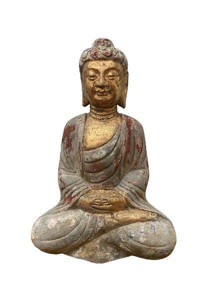 Garten Buddha Tibet Figur Meditation Gartenskulptur