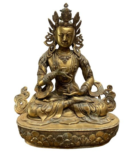 Bodhisattva Statue Bronze Buddha Figur (39cm) China