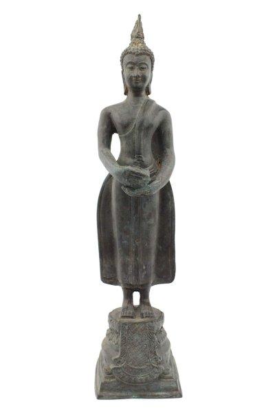 Buddha Figur Mittwoch aus Bronze - Thailand