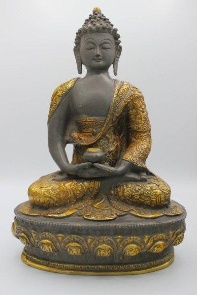 Amitabha Buddha - Bronze Figur, Nepal