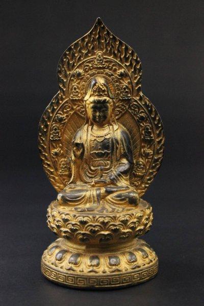 Kwan-Yin Buddha-Figur aus Bronze