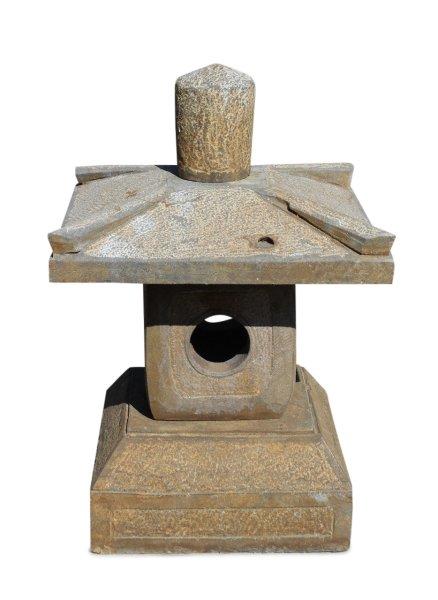 Steinlaterne aus Naturstein für den Garten - 4-Teilig